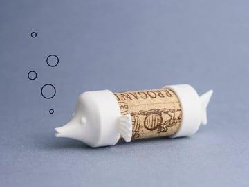 Image de Objets 3D funs et faciles à imprimer en 3D: Cork Pals: Fishy Fish