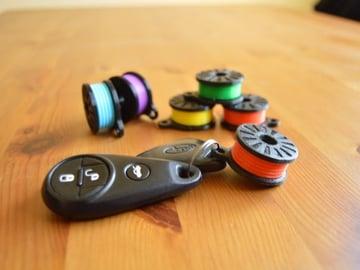 Image of Einfache & lustige 3D-Druck-Ideen: Retro-Filamentspulen-Schlüsselanhänger