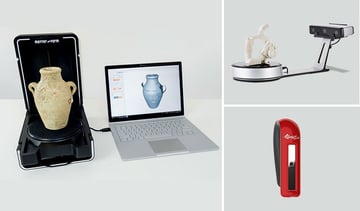 3D scanning constructs CAD images of objects from points of data.