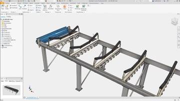 3D modeling in Inventor.