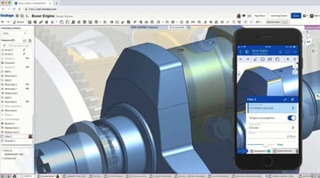 Onshape's user interface is clean and functional.