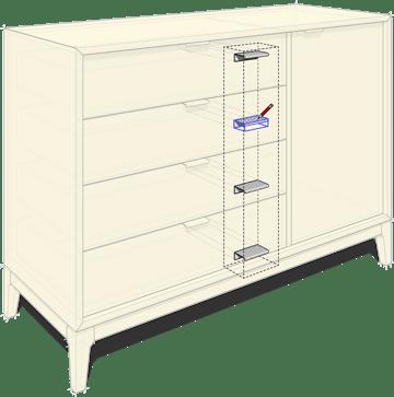 A desk modeled in SketchUp.