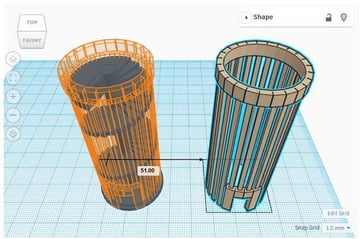 The TinkerCAD interface is clutter-free and simple.
