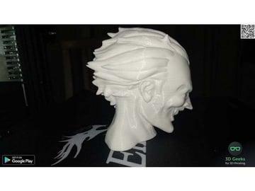 This model of the Joker looks great in white.