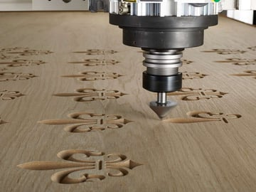 A CNC router in action!