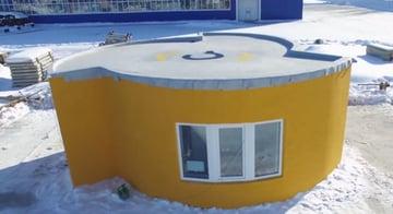 Apis Cor's 3D printed house.