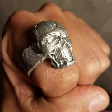 This Terminator ring is meant to be printed on a high-resolution SLA printer.