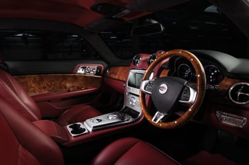 Complex interior panels created using 3D printing.