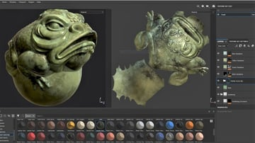 A toad map with a marble effect.