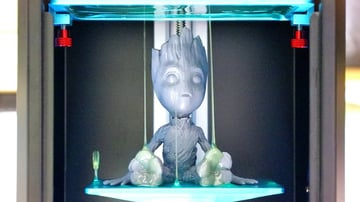 Groot figure, printed on the Anycubic Photon