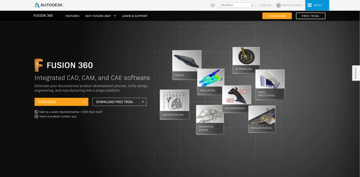 The Fusion 360 website.