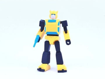 This Bumblebee model doesn't transform, but it is fully articulated