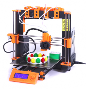 A Prusa with a MMU is a multicolor printing setup