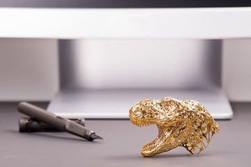 This brass T-Rex head shows the detail you can obtain from lost-wax casting