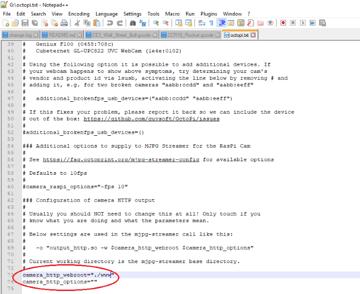 Editing the program