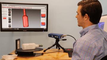 3D scanning a bottle