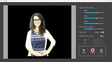 Easy to use and scan, Microsoft's 3D Scan works well