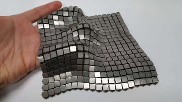 This fabric was printed in one piece by NASA engineers