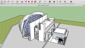 An architectural model in SketchUp