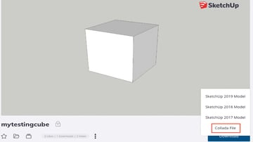 Download the model in 3D Warehouse in Collada (DAE) format
