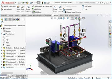 Flow planning in SolidWorks