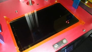 The Photon's LCD screen protected by Kapton tape