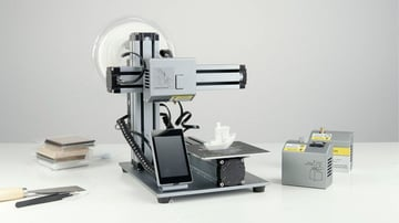Single machine for 3D printing, CNC milling, and laser engraving