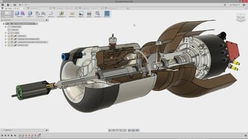 The Fusion 360 interface is similar to advanced modeling tools