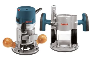 A Bosch router and plunge base