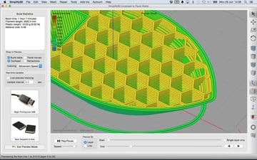 Simplify3D allows for detailed configuration of many slicing settings