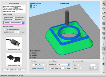 Using multiple extruders in Simplify3D