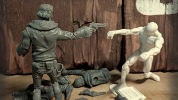 A Rick Grimes action figure
