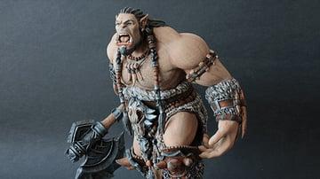 A Durotan 3D printed figurine