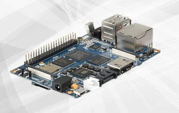 The Banana Pi M3 has an unusual bunch of features which may suit your use case