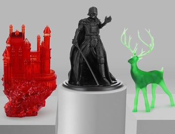 Elegoo 3D printing resin comes in a variety of colors