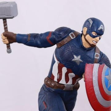Captain America taking his best shot