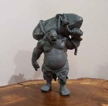 A 3D printed D&D miniature ogre