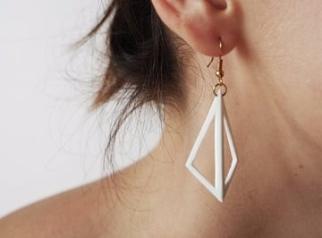 Geometry meets jewelry in this simple earring design