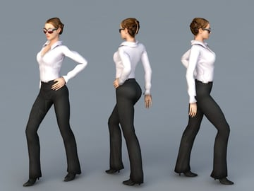 A 3D model of a business woman