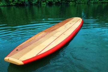 A CNC-milled paddleboard
