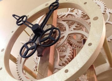 A beautiful CNC skeletal timepiece