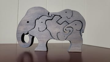 A simple CNC-milled puzzle designed for children