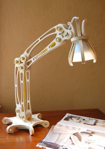 A steampunk-style CNC lamp design