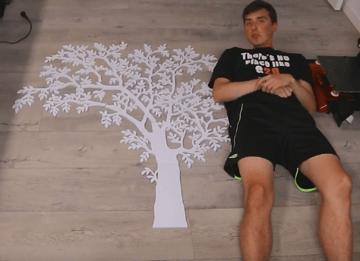 3D printed light-up tree