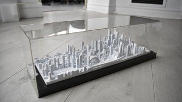 3D printed display model of Toronto's skyline