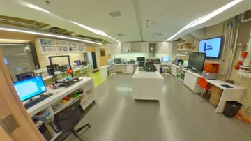 The interior of the FCAD Fabrication Lab
