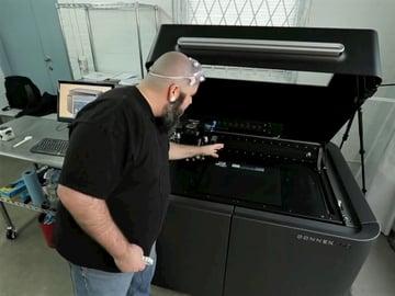 Derek Quenneville explaining 3DPhacktory's services