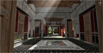 A Pompeii room before the volcano hit