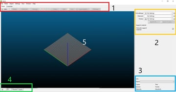 Slic3r's main screen