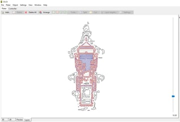 How a specific layer looks in Layer view.